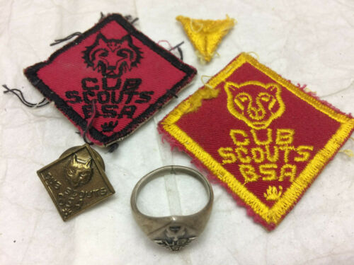 Vintage Cub Scouts Lot Ring Pin Patches
