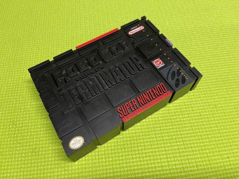 Robocop vs Terminator *  Snes Box Only * Super Nintendo Original RARE box