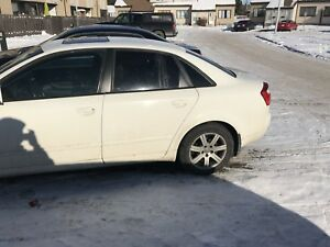 White Audi A4 2005