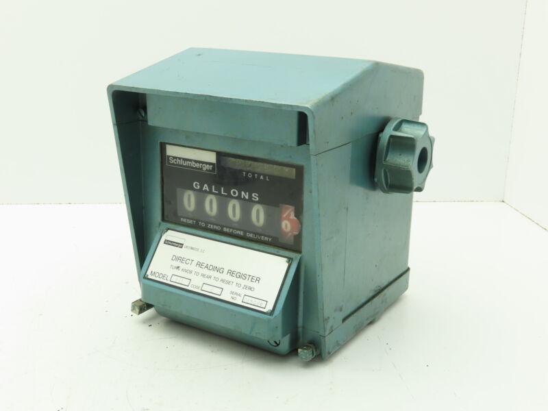 Schlumberger 831 Fuel Meter Reading Register 4-Digit Gallons
