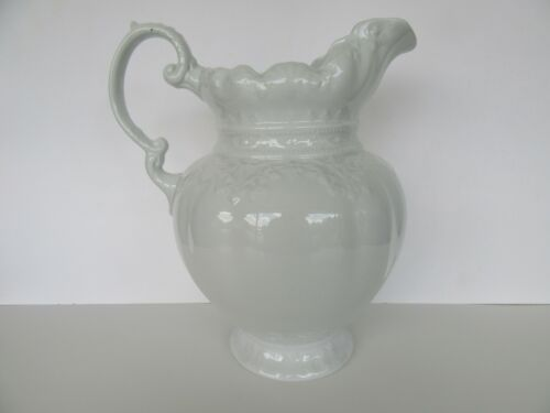 "Antique Fantastic Alfred Meakin Royal Ironstone White Pitcher (12"")"