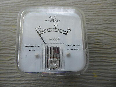 Emico Panel Mount Meter 0-30 Ac Amps 5059