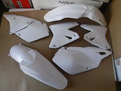 R TEC  PLASTIC KIT SUZUKI DRZ400 DRZ400E DRZ400S DRZ400ES WHITE  SHROUDS FENDERS