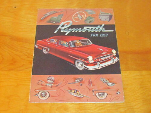1953 Plymouth Dealership Brochure Catalog Manual original.