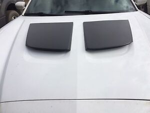 Dodge Charger faux hood scoops