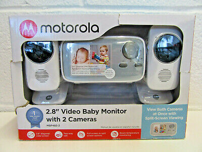 """Motorola (MBP483-2) - 2.8"""" Video Baby Infant Monitor w/ Two Cameras NEW SEALED"""