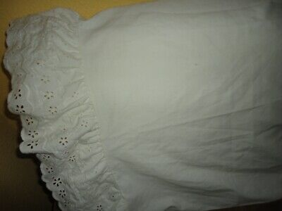 (VINTAGE SEARS EYELET LACE OFF WHITE EMBROIDERED (1PC) STANDARD PILLOWCASE 20X29)