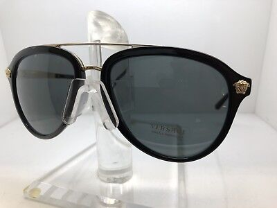e76a33c5e25 Authentic VERSACE SUNGLASSES VE 4341 GB1 87 Black Grey Lens