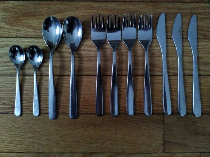 Vintage Collectible British Airways Silverware Lot Spoons Forks Knives Concorde