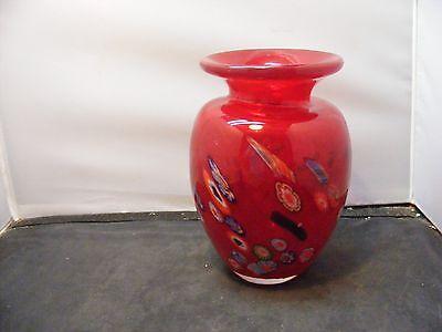 vintage Murano Millefiori Glass vase