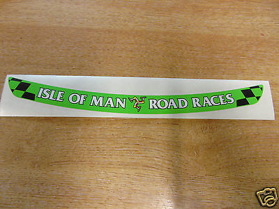 Isle of Man Road Races - TT Visor Decal Sticker - GREEN