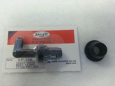 KP106 Sankei PCV Valve + Grommet Kit Made in Japan 90° fits Honda / Toyota (Pcv Grommet)