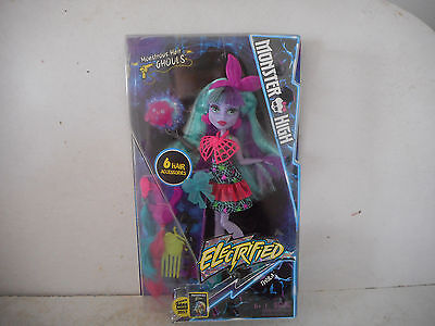 Monster High Electrified Monstrous Hair Ghouls - Twyla - Daughter of Boogey Man