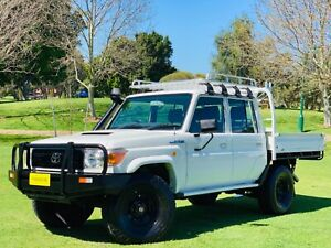 🔥2014 TOYOTA LANDCRUISER LC70 VDJ79R MY14 WORKMATE (4X4) WHITE 5 SPD MANUAL DOUBLE CAB CHASSIS 🔥