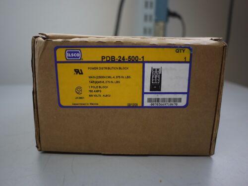 ILSCO PDB-24-500-1, 1 Pole Power Distribution Block 760 AMP 600 VOLT (NEW)