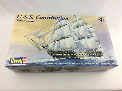 Revell USS Constitution Old Ironsides 1/196 Scale Model Open Box Complete