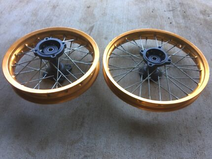 Brand new gold pitbike rims