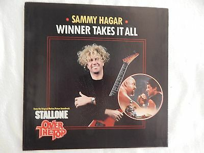 Sammy Hagar  Winner Takes It All  Picture Sleeve  New  Only New Copy On Ebay