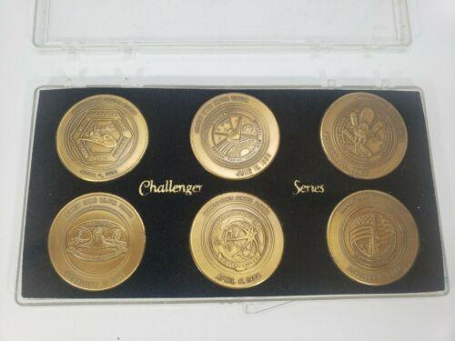 NASA Challenger Series 6 Bronze Coin Set