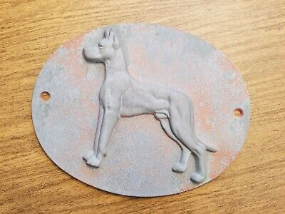 Great Dane Semi Trailer Badge Collectible Sign Vintage Logo Emblem Grey Vintage