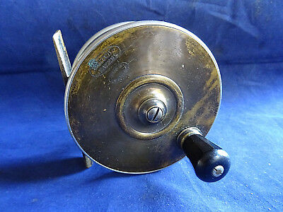 """A SUPER VINTAGE 3 3/4"""" MALLOCH SUN AND PLANET SALMON FLY REEL"""