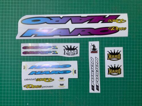 Haro group 1 bmx decal blue purple