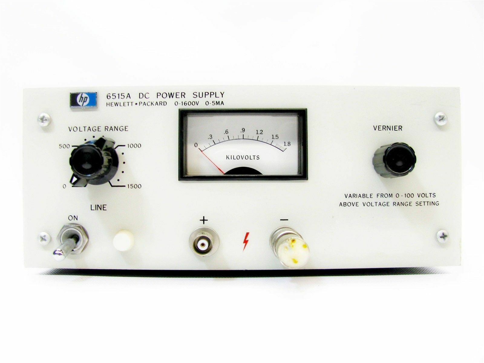 Hp 6515a High Voltage Dc Power Supply 0 1600v 5ma Ebay 300v Variable