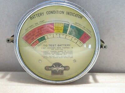 Vintage 1946 Marquette Battery Condition Indicator Tester Great Display