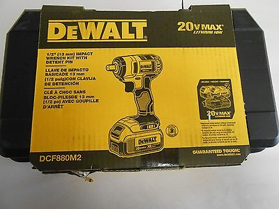 NEW DEWALT DCF880M2 1/2-Inch Impact Wrench with Detent Pin Kit