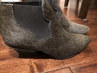 "ACNE Studios ""Alma"" Green Ankle Boots, Size 38"