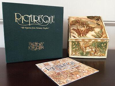 Harmony Kingdom Noah's Hideaway Treasure Jest Box with Oregon Event Tile BNIB