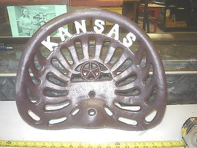6 CAST IRON FARM BAR STOOL GARDEN SEAT   KANSAS WILDCATS