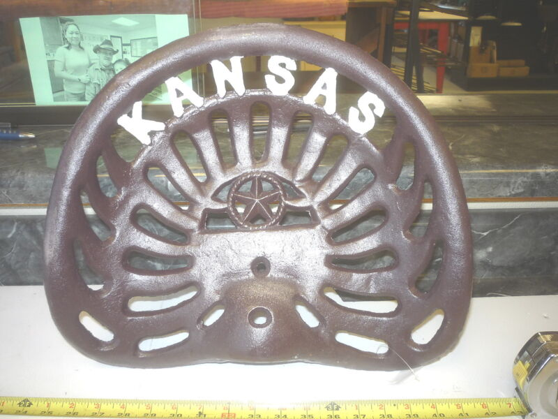 CAST IRON FARM BAR STOOL GARDEN SEAT   KANSAS WILDCATS