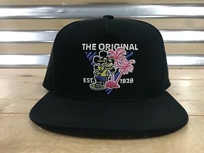 48de896f663 Vans x Disney Mickey s 90th Boys Young people 80 s Snapback Hat Black (  VN0A3HZTXHA )