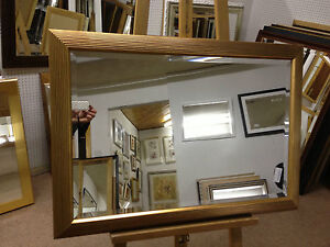 NEW-ANTIQUE-GOLD-RIBBED-WALL-AND-OVERMANTLE-MIRROR-VARIOUS-SIZES-AVAILABLE