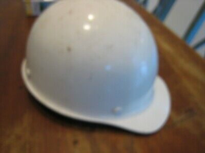 Vintage Msa Fiberglass Cap Style Hard Hat Nice Suspension- White Size Medium See