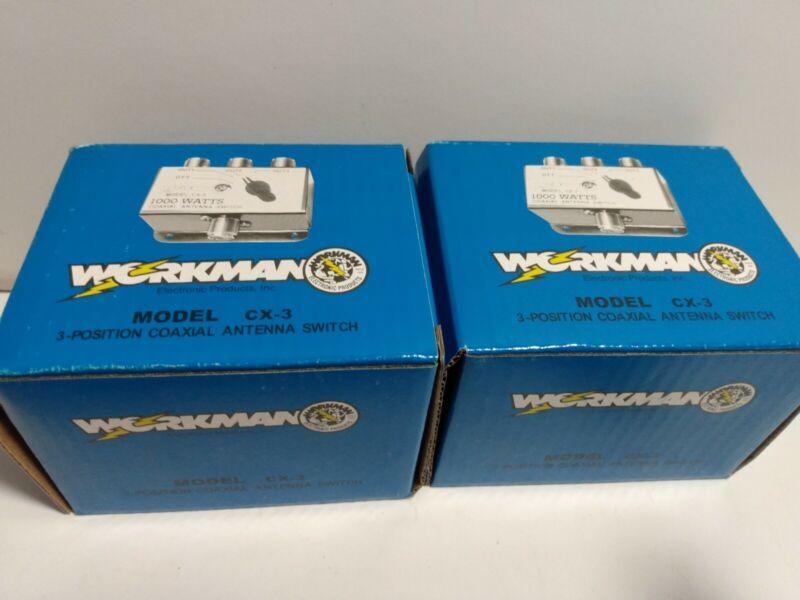Workman CX-3 Antenna Switch Box CB Radio Lot of 2