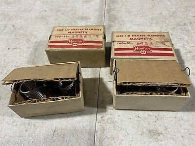 Lot Of Four Monitor Products Size 10 Heater Elements Magnetic 160-31-3.75a Nos