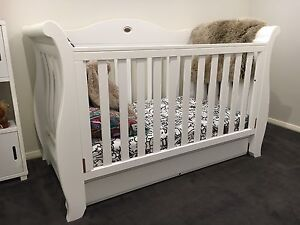 Boori White Sleigh Royale Cot / bed Camden Camden Area Preview