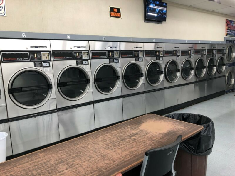 6 Stainless Steel Speed Queen Single Pocket Commercial Dryers