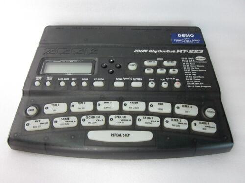 Zoom RhythmTrak RT-223 RT223 Drum Rhythm Bass Machine Used Perfect Working F/S