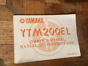 1983 Yamaha YTM200 Owners Manual