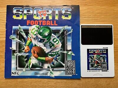 TurboGrafx 16 TV Sports Football Hu CARD PC Engine Duo Express Turbo Grafx, used for sale  Shipping to Nigeria
