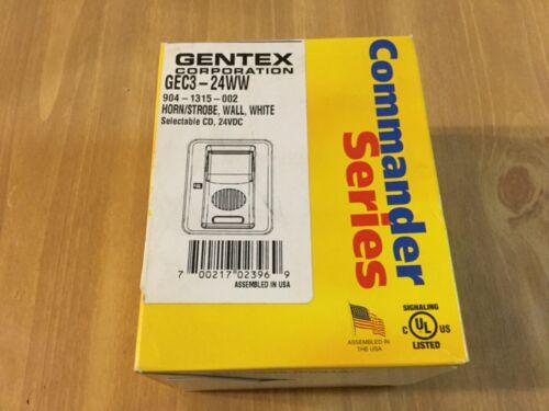 Gentex Wall Evacuation Signal w/ Field Selectable Candela GEC3-24WW