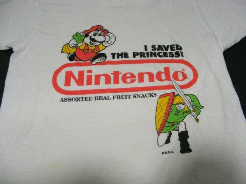 Vintage Rare 1990 Nintendo Fruit Snacks T-Shirt Legend of Zelda Super Mario