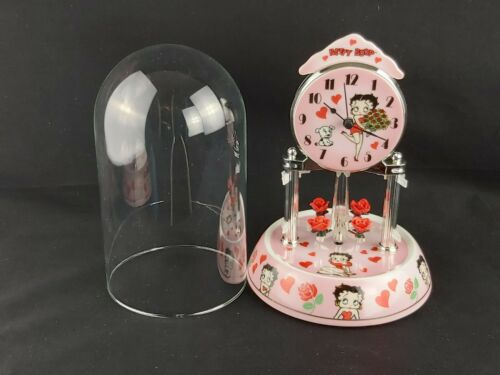 Betty Boop Porcelain Anniversary Collectible Clock w/ Revolving Pendulum 2010 Ed