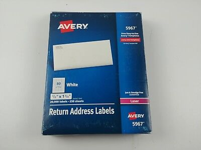 Avery 5967 Address Labels Sure Feed For Laser Printers 0.5 X 1.75 - 20000