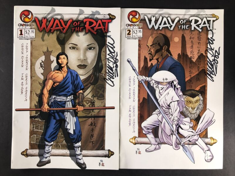 SIGNED-Way Of The Rat #s 1 & 2 AUTOGRAPHED by Chuck Dixon VF 2002