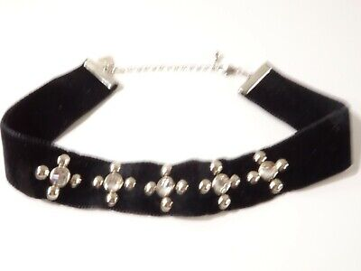 Dannijo Womens Wren Choker Necklace Black Velvet Choker Necklace NWT 195
