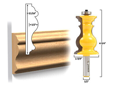 Elaborate Chair Rail Molding Router Bit - 1/2